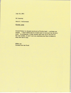 Memorandum from Mark H. McCormack to Ed Janeway