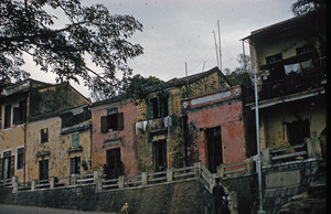 Dilapidated row houses