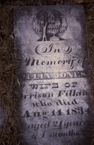 Albany Rural Cemetery (Menands, N.Y.) gravestone: Jones, Julia (d. 1834)
