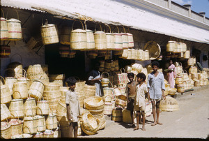 Baskets at the bazaar Bangalore