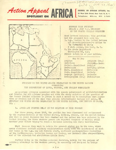 Council on African Affairs bulletin