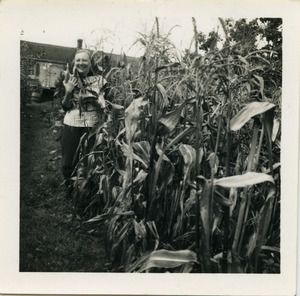 Hazel Strand standing in a corn field in Paris, France