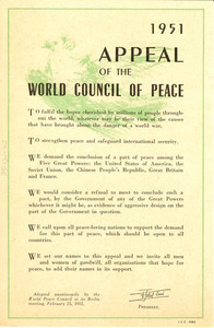 Appeal for a peace pact