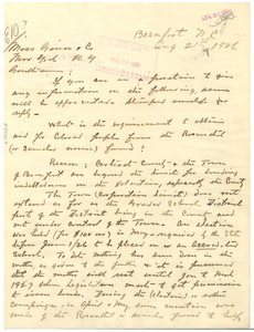 Letter from George Davis to Ginn and Co.