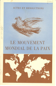 Actes et resolutions le Mouvement Mondial de la Paix