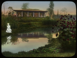 Humboldt Park Chicago (pavilion overlooking water and roses)