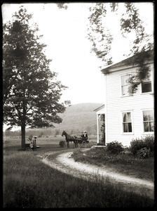 Brooks-Fewell home (Greenwich, Mass.), Mount Pomeroy in background