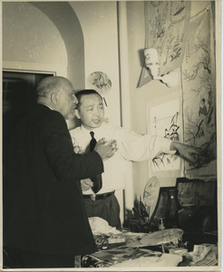 W. E. B. Du Bois with a Chinese merchant in New York