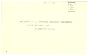 Africa and the United States conference reply card