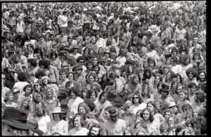 May Day concert and demonstrations: rock concert crowd