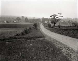 Dorothy Canfield Fisher: view down country lane near Fisher home