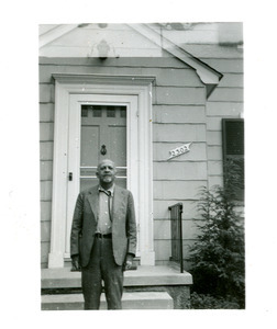 W. E. B. Du Bois in front of Baltimore home
