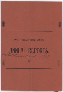 Annual reports of the Town Officers of Westhampton, Mass.