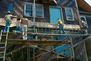 Detail of Brian McCue house construction
