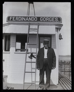 Capt. King, aboard the Ferdinando Gorges ferry