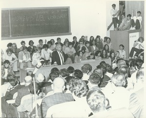 Students and faculty discussion
