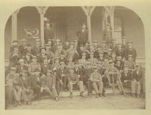Class of 1882 outdoors portrait