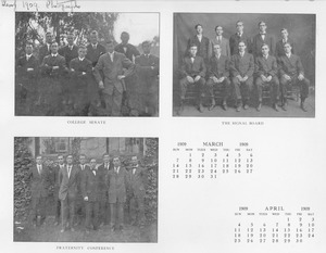 Class of 1909 College Senate, Signal Board, and Fraternity Conference