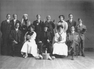 "Cast of the 1910-1911 theater production ""The Private Secretary"""