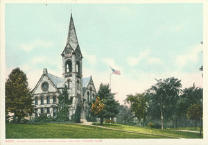 Chapel and Campus Agricultural College, Amherst, Massachusetts
