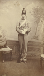 Class of 1882 unidentified man in military dress