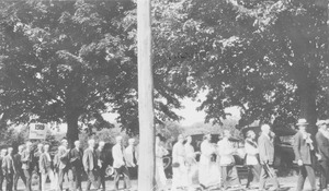 Class of 1919 during commencement ceremony