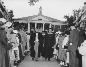 Commencement at Goodell Library
