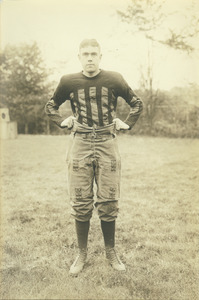 Alton H. Gustafson in football uniform