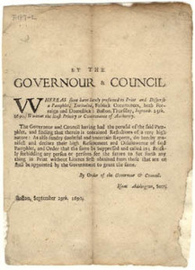 By the Governour & Council: Whereas some have lately presumed to Print and Disperse a Pamphlet...