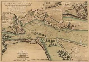 An Authentic Plan of the River St. Laurence from Sillery, to the Fall of Montmorenci, with the Operations of the Siege of Quebec under the Command of Vice-Adml. Saunders & Major Genl. Wolfe down to the 5 Sepr. 1759