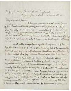 Letter (draft) from John Quincy Adams to Joseph Sturge, March 1846
