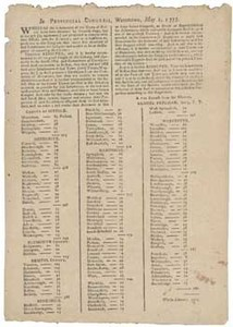 In Provincial Congress, Watertown, May 1, 1775: Whereas the inhabitants of the town of Boston have been detained by General Gage, but at length (by agreement) are permitted to remove their effects into the Country ...