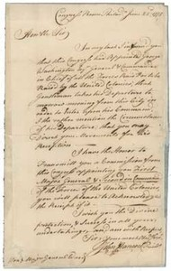 Letter from John Hancock to Artemas Ward, 22 June 1775