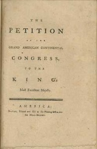 The Petition of the Grand American Continental Congress, to the King's Most Excellent Majesty