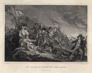 The Battle at Bunker's Hill Near Boston. June 17, 1775.