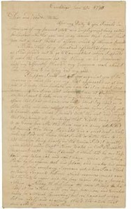 Letter from Peter Brown to Sarah Brown, 25 June 1775