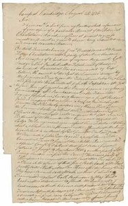 Letter from William Prescott to John Adams, 25 August 1775