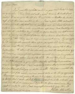 Letter from Phillis Wheatley to Obour Tanner, 21 March 1774