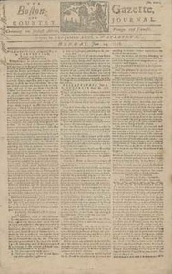 The Boston-Gazette and Country Journal