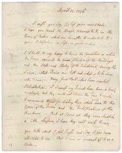 Letter from John Adams to William Tudor, 12 April 1776