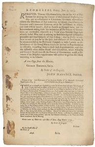 In Congress, Friday, June 9, 1775. Resolved, That no Obedience being due to the Act of Parliament for altering the Charter of the Colony of Massachusetts-Bay ...