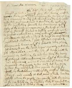 Letter (draft) from Abigail Adams to Mercy Otis Warren, [3] February 1775