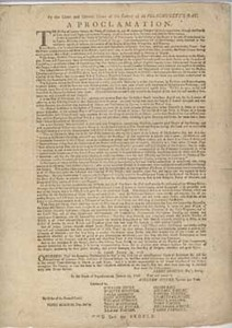 By the Great and General Court of the Colony of Massachusetts-Bay. A Proclamation ...