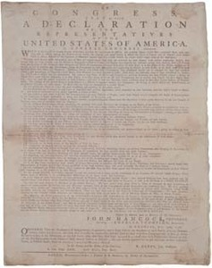 In Congress, July 4, 1776. A Declaration by the Representatives of the United States of America, in General Congress Assembled