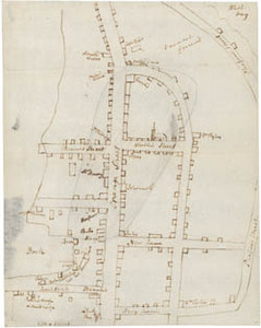 Manuscript map of the 1787 fire of Boston, Massachusetts