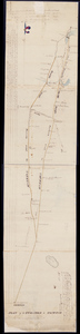 Manuscript plan of the turnpike to Taunton, 1 April 1806