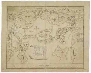 Manuscript map of the Battle of Bunker Hill, 1775