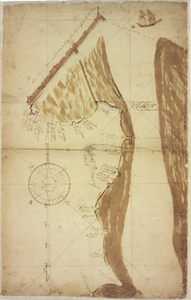 Manuscript map of Long Wharf (Boston, Mass.), 1714