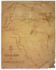 Manuscript map of Newton, [ca. 1825-1830]