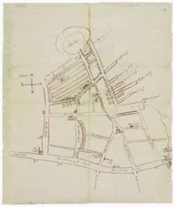Manuscript map of Boston (Mass.), 20 September 1794